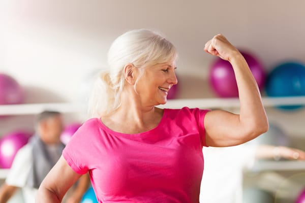 Woman feeling strong and healthy.