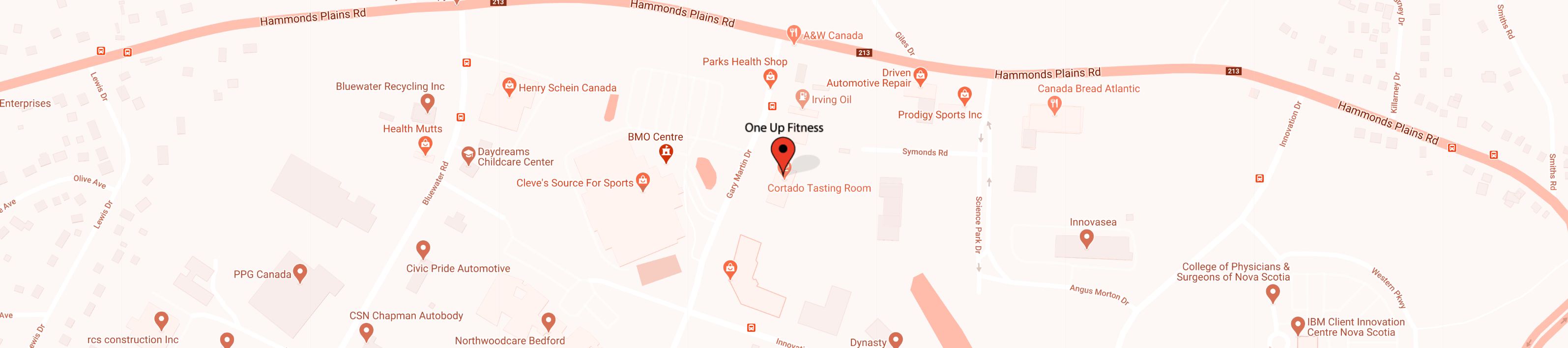 OneUp Fitness Location in Bedford