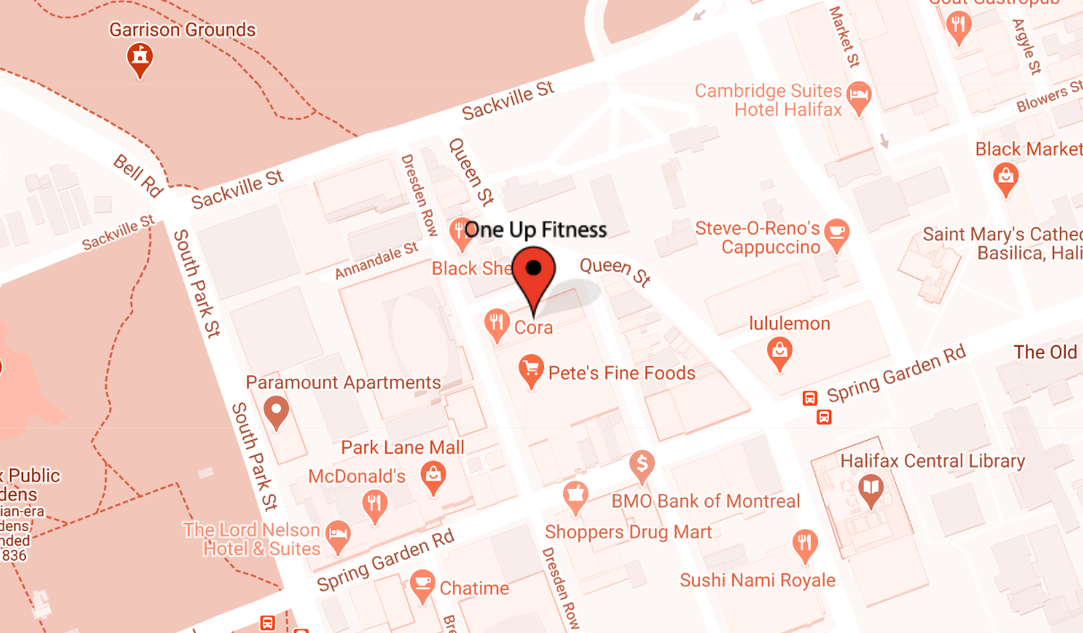 OneUp Fitness Location in Halifax