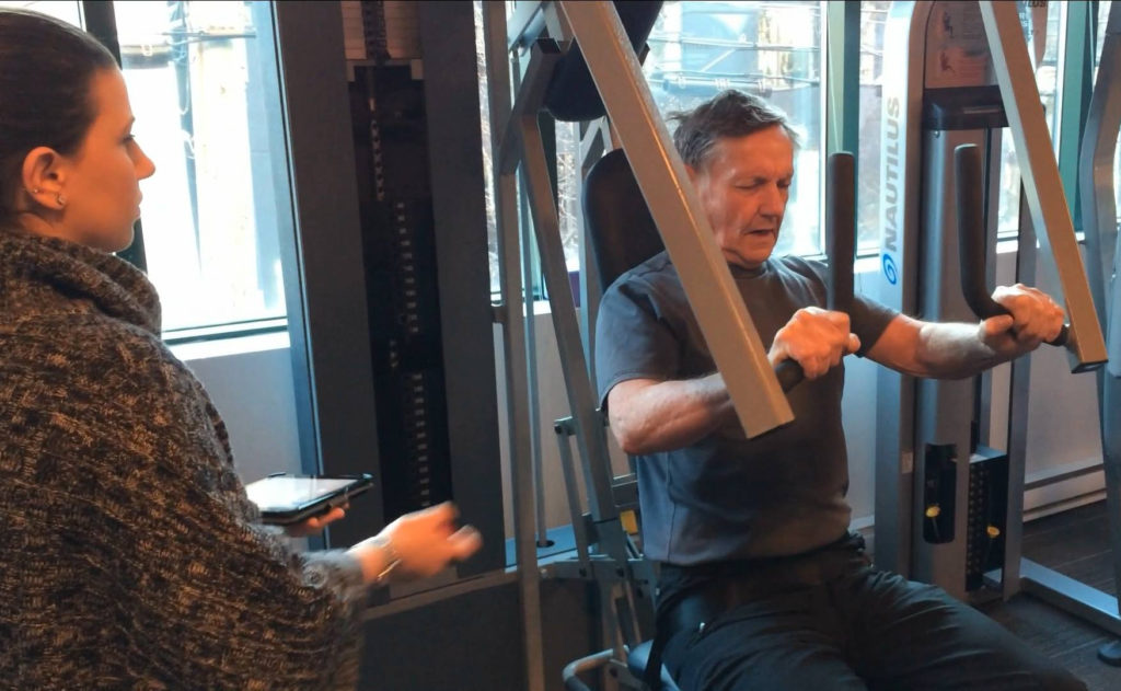 personal trainer in the gym